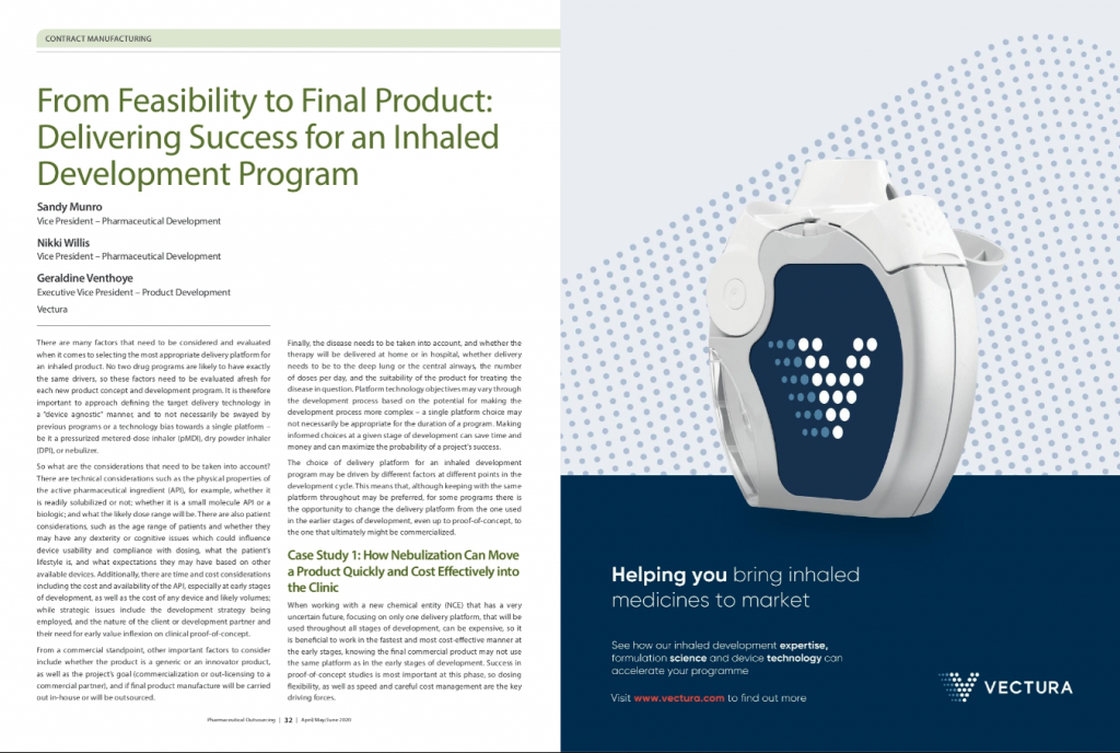 From Feasibility to Final Product