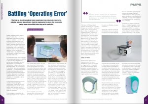 "Magazine article ""Battling 'Operating Error'"""